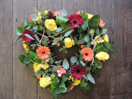 Natural Heart Wreath