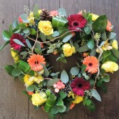 Natural Heart Wreath